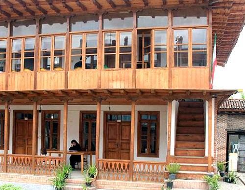 نمای منزل میرزا کوچک خان بعد از بازسازی